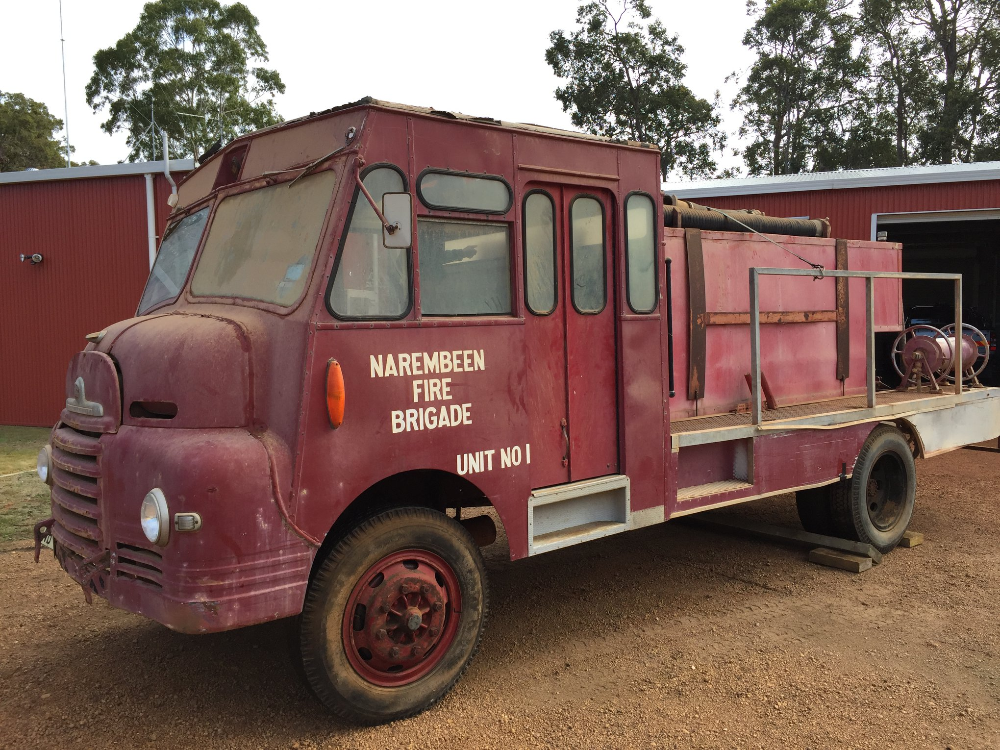 1953 Bedford Tanker from Narembeen Bush Fire Brigade 1 - Pre restoration