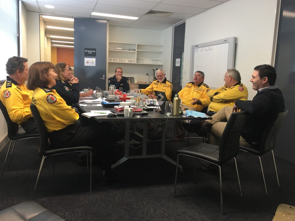 Department of Biodiversity, Conservation and Attractions (DBCA) Parks and Wildlife Service (PaWS) Jason Foster discussing bushfire policy with the State Committee of the Association of Volunteer Bush Fire Brigades 15 June 2019