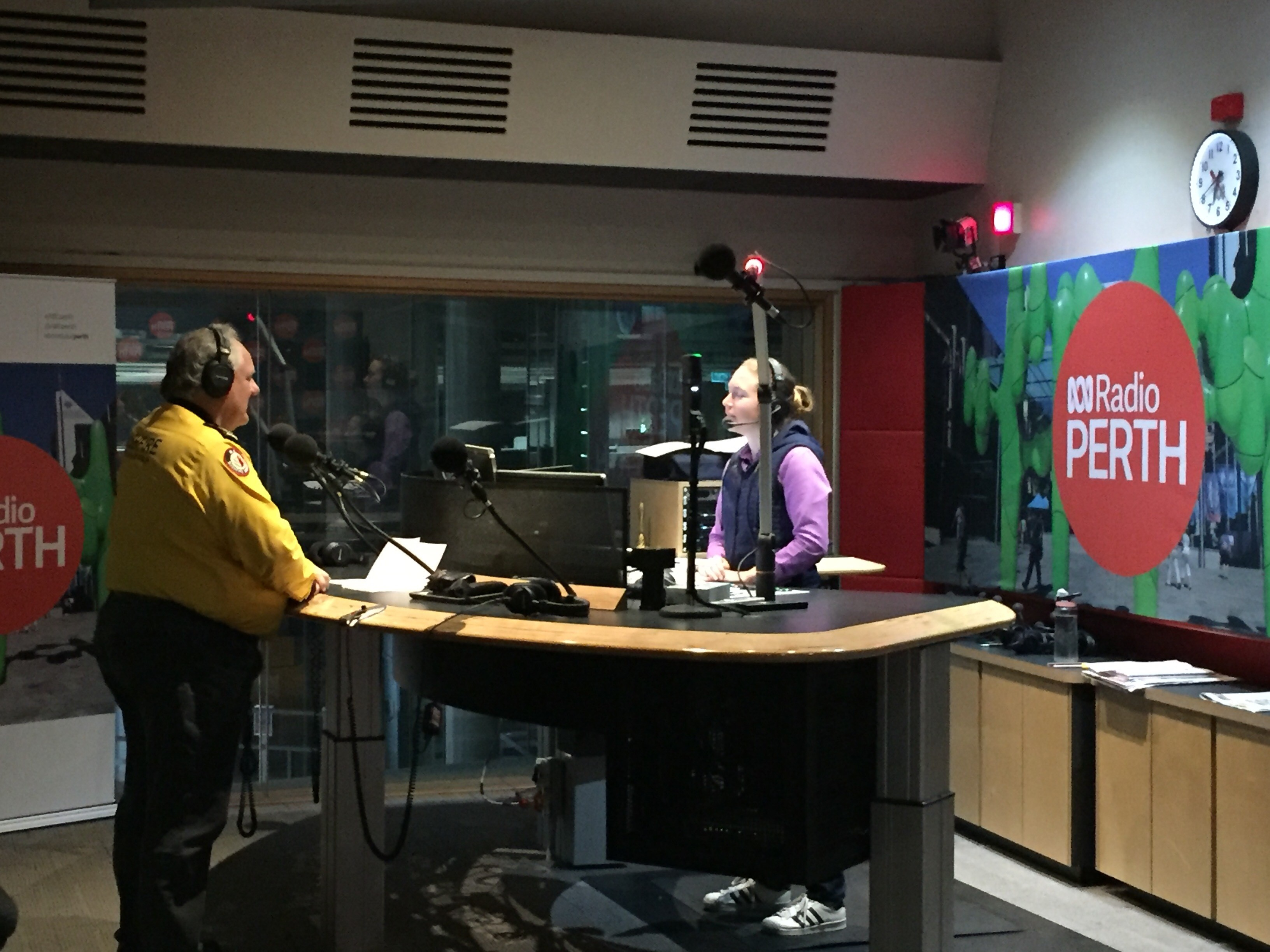 ABC Radio Hilary Smale and AVBFB President Dave Gossage 13-07-2019