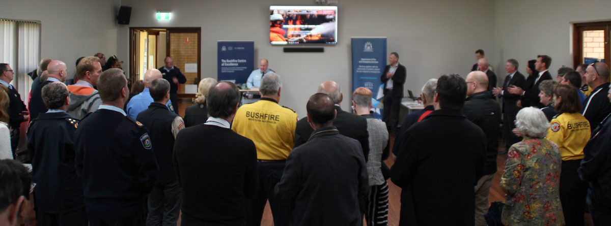"""Fire and Emergency Services Commissioner Darren Klemm AFSM addressing the DFES """"Bushfire Centre of Excellence Stakeholder update"""" in Pinjarra 5 July 2019"""
