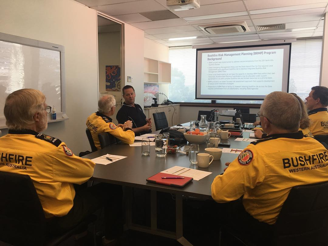 DFES Rural Fire Division Mark Bowen speaking with Association of Volunteer Bush Fire Brigades State Committee 10-08-2019