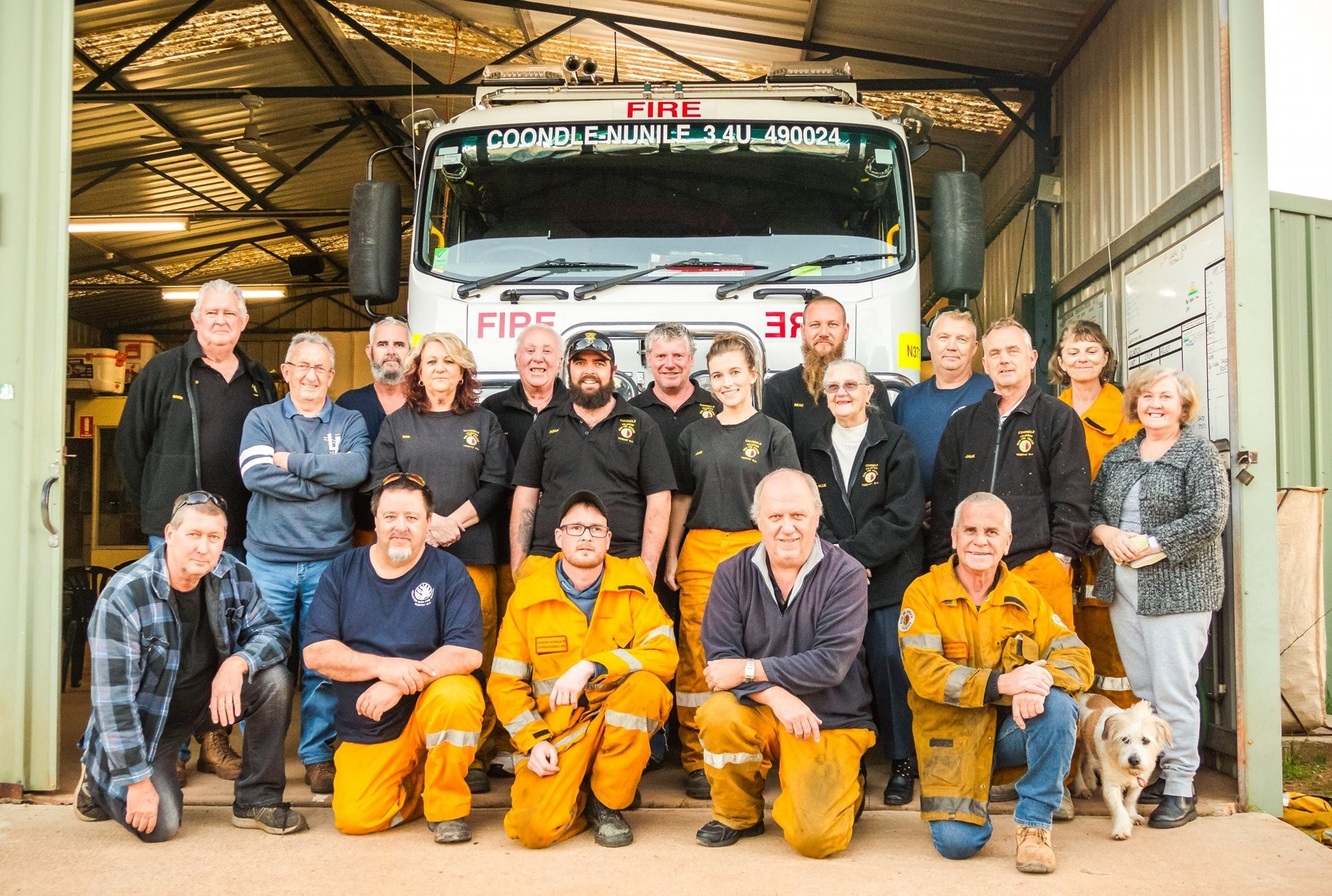 "Coondle-Nunile Volunteer Bush Fire Brigade ""Latest brigade family photo"" 30-07-2019"