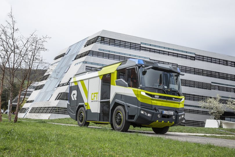 The Rosenbauer Concept Fire Truck. Photo RiotACT!