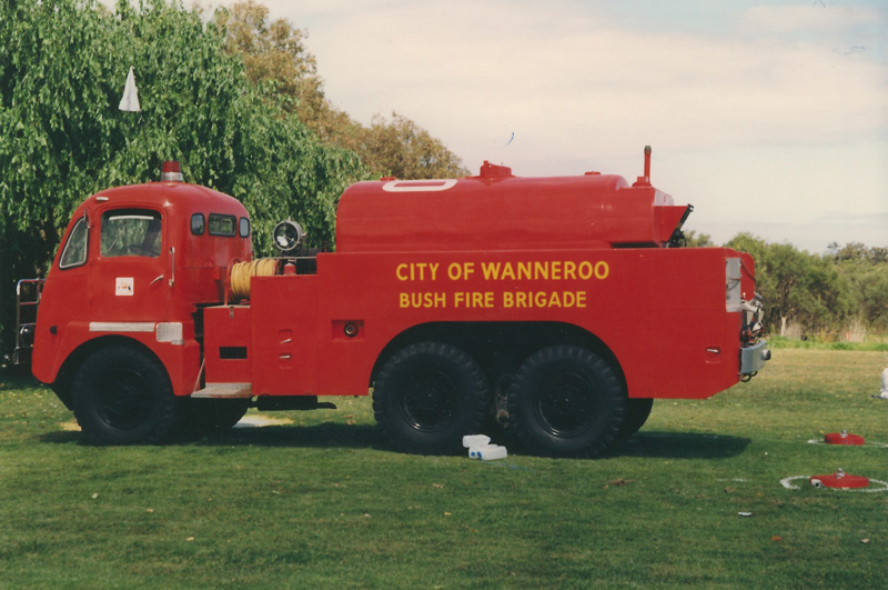 Wanneroo bought the Thornycroft fire truck, made in the UK, from Perth Airport in the 1970s. Photo Wanneroo Times