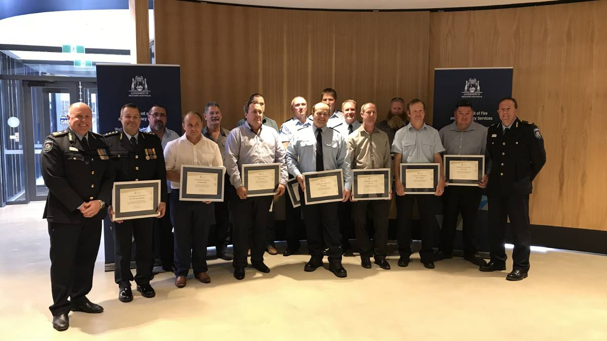 Avon Advocate: Wheatbelt Waroona bushfire responders recognised with Meritorious Service Awards
