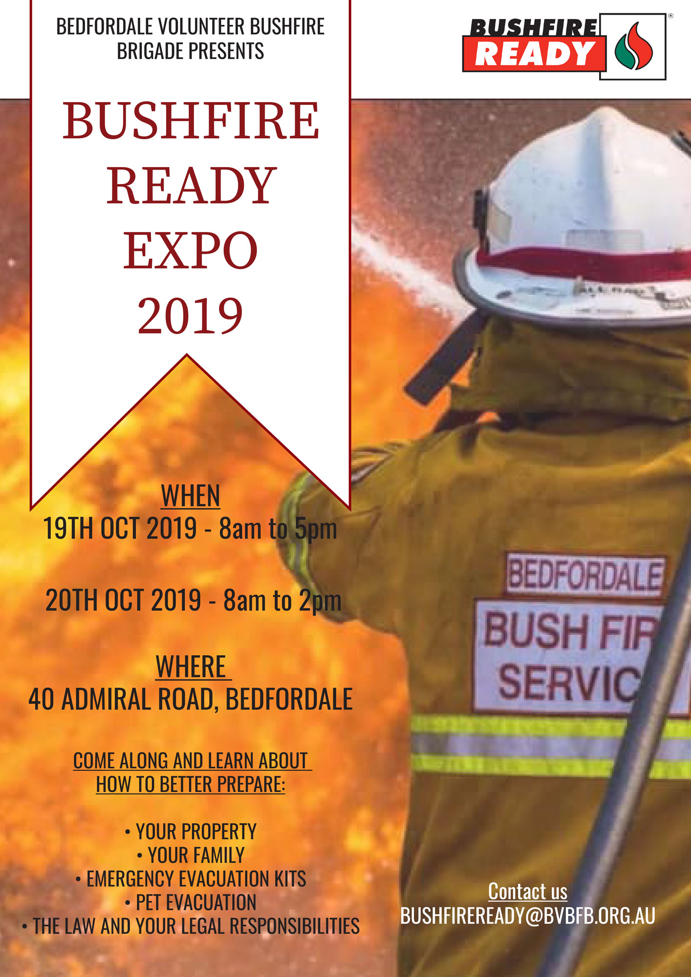 Get Bushfire Ready with Bedfordale BFB this weekend