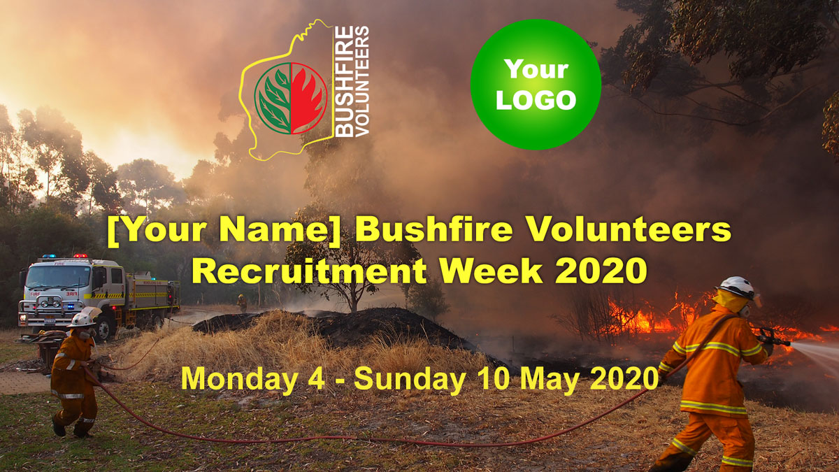 Sponsorship Opportunities: Bushfire Volunteer Recruitment Week 2020