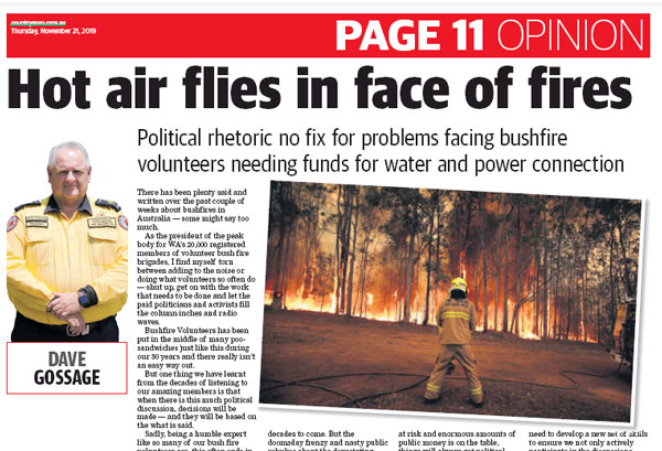 The Countryman: Hot air flies in face of fires