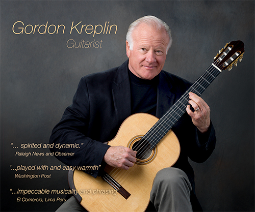 poster with Gordon Kreplin, guitarist