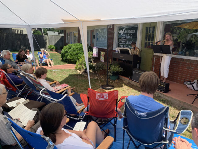 Outdoor student concert performance