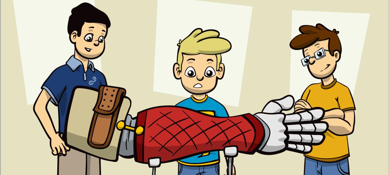 The Bionic Kid Comic