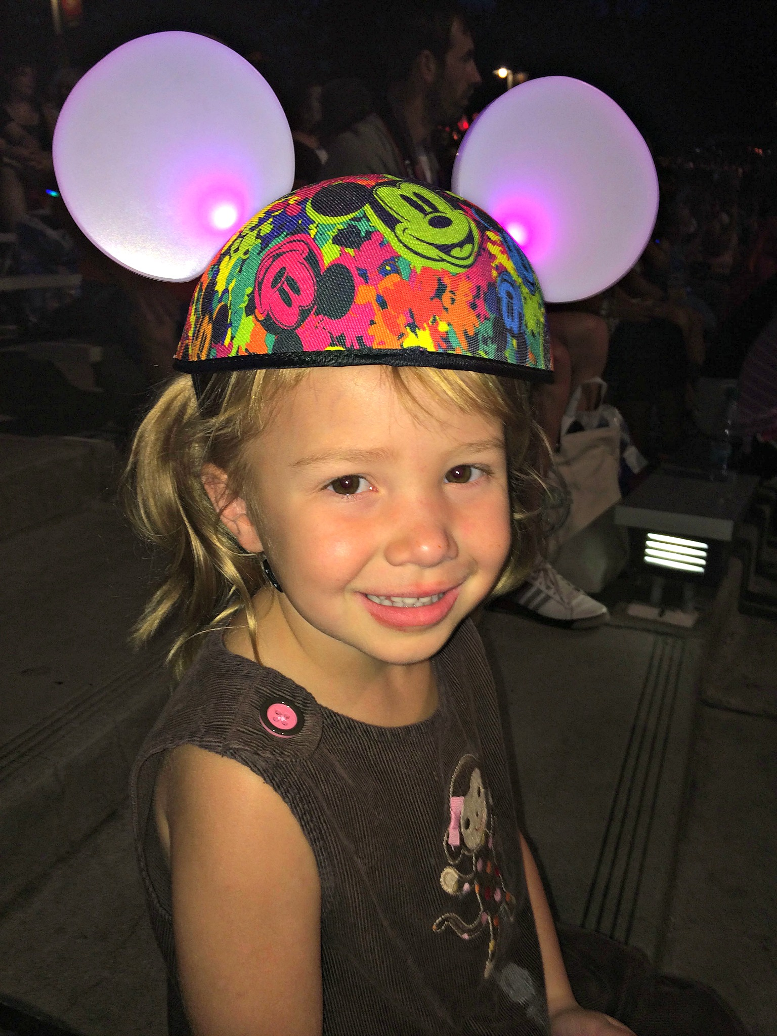 """The lights in these ears """"dance"""" with the music in different shows at Disney World - making you a part of the show."""