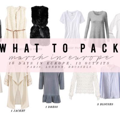 What to Pack: Outfits for March in Europe