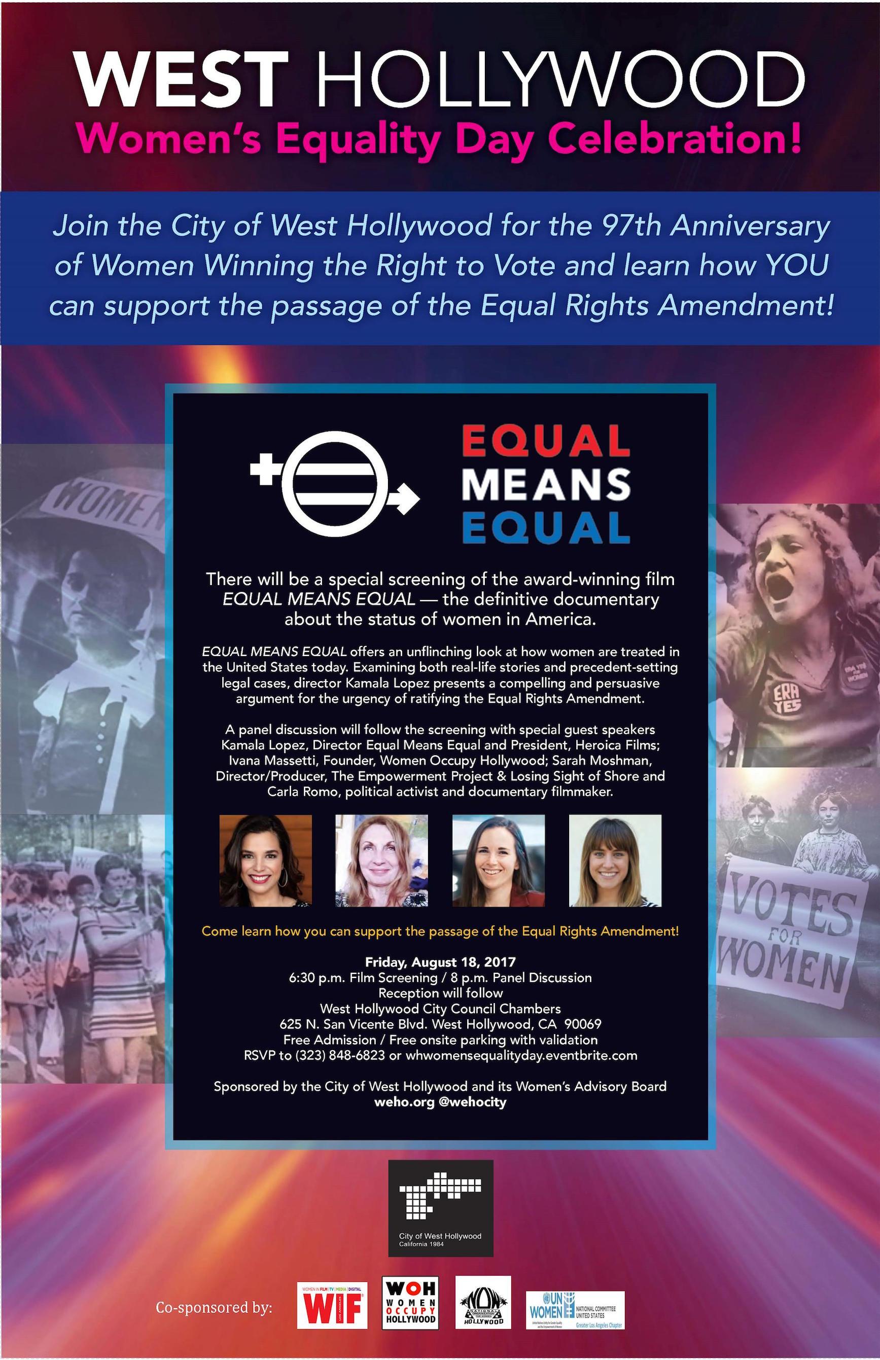 Women's Equality Day Flyer - Digital copy