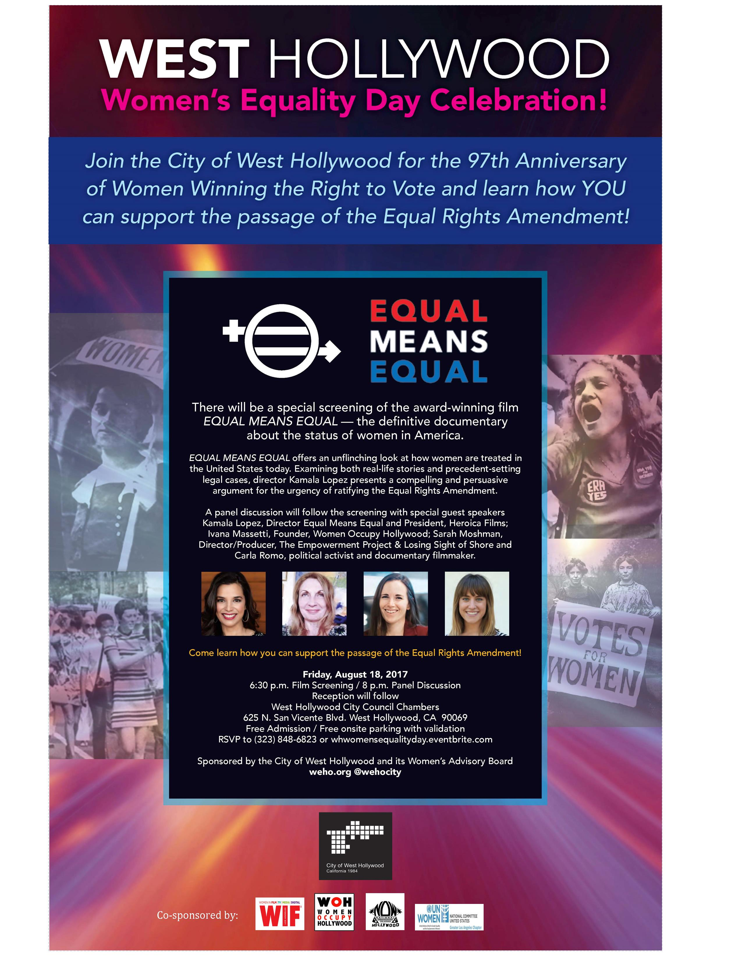 Women's Equality Day Flyer - Digital