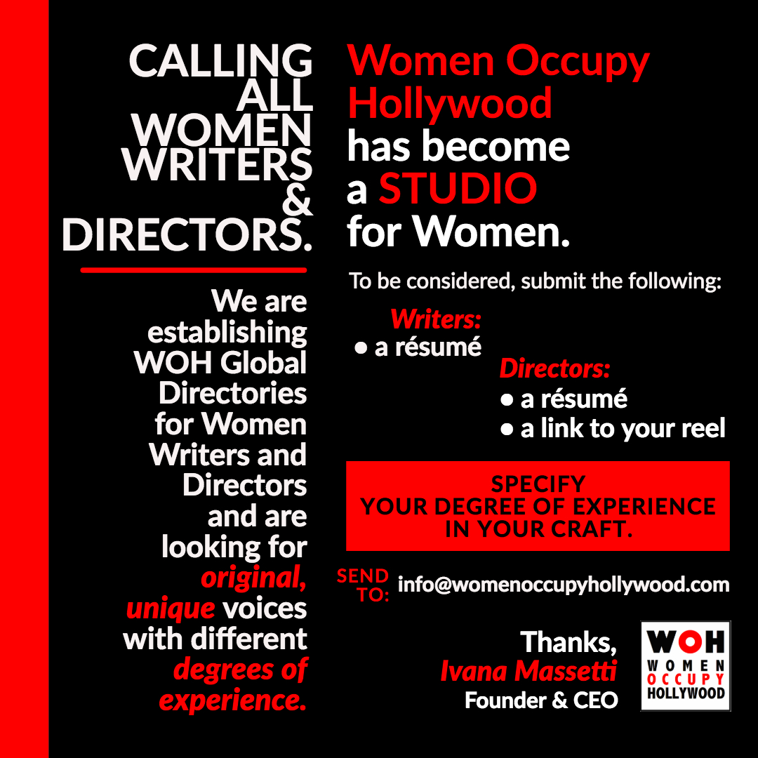 Calling All Women Writers & Directors