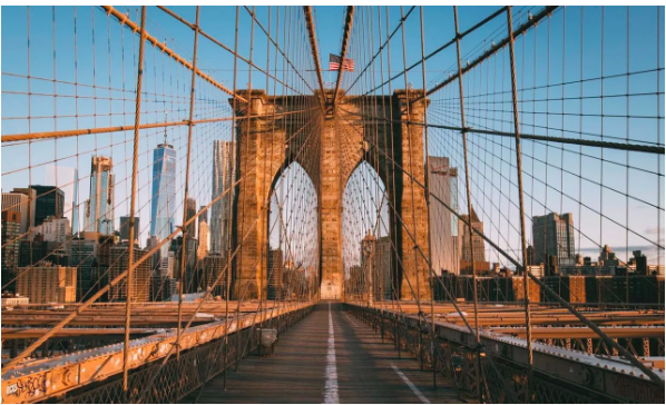 Brooklyn Bridge, New York City. Brooklyn is where you can get your citizenship in America as a French native