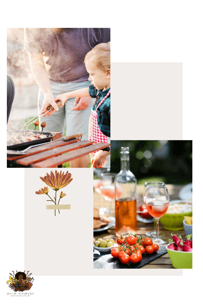 Backyard barbeque in France is my ideal way to celebrate Father's Day in France