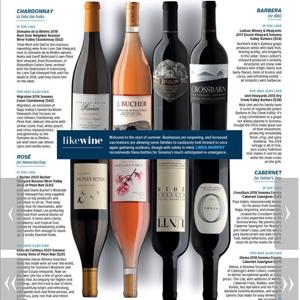 sonoma summer wine list