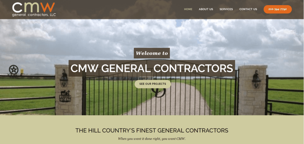 CMW General Contractors Website