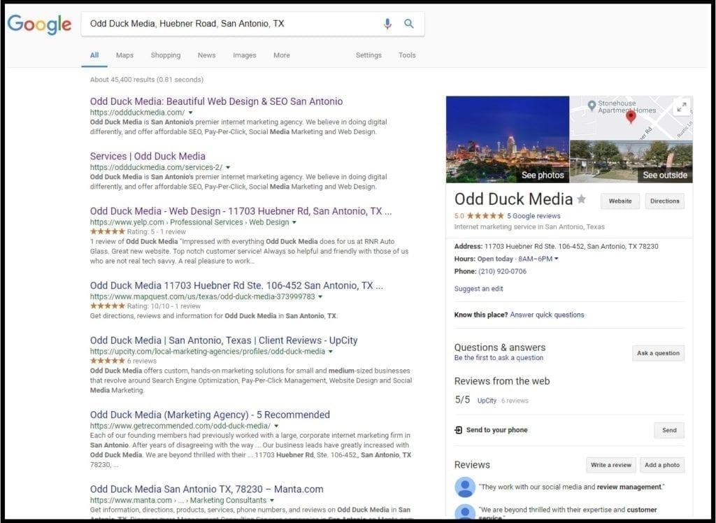 San Antonio SEO Web Design Odd Duck Media