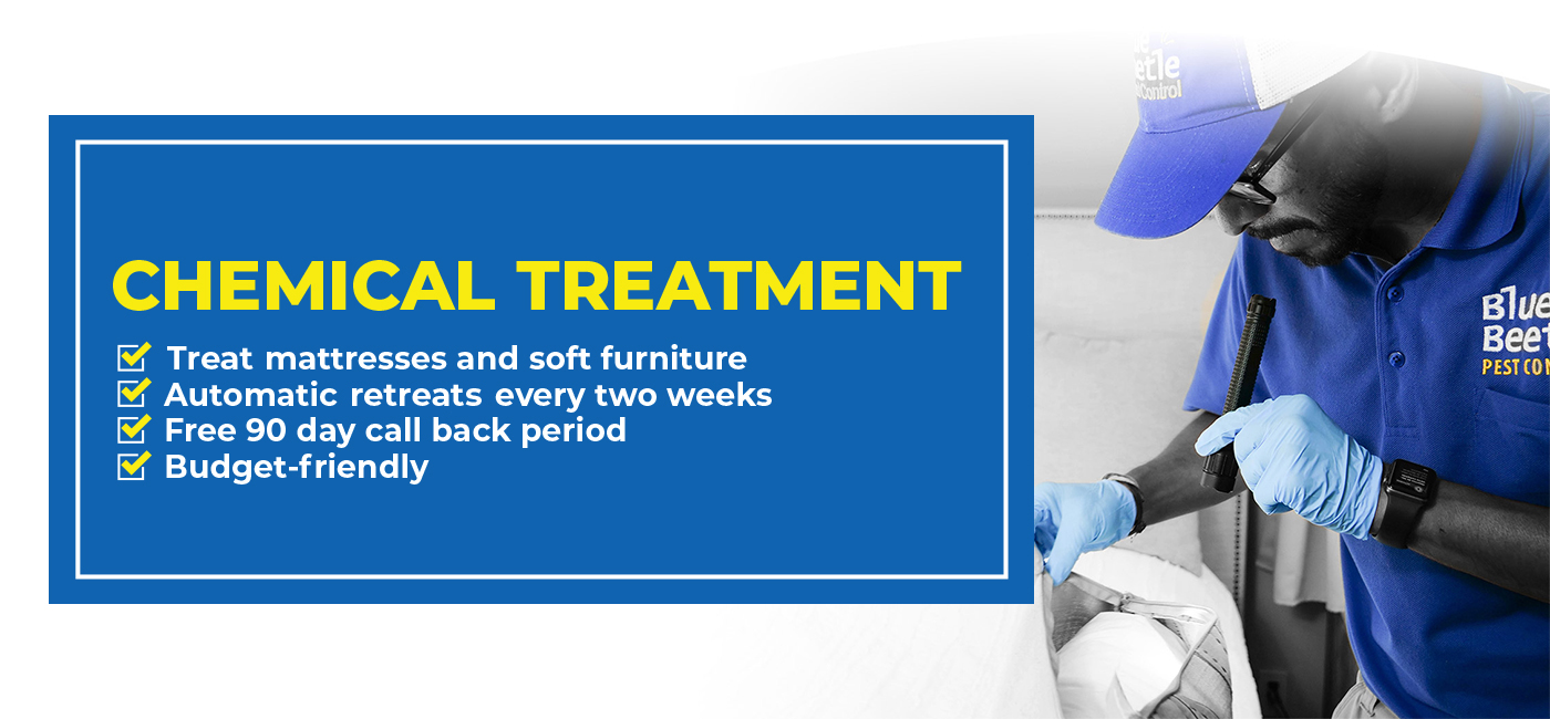 Bed bug chemical treatment banner