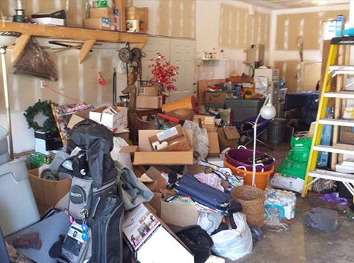 untidy home garage attracting spiders