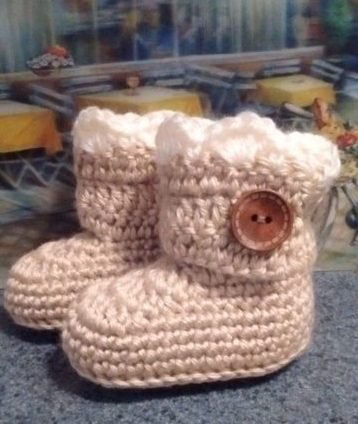 Lace top Ugg Style Booties