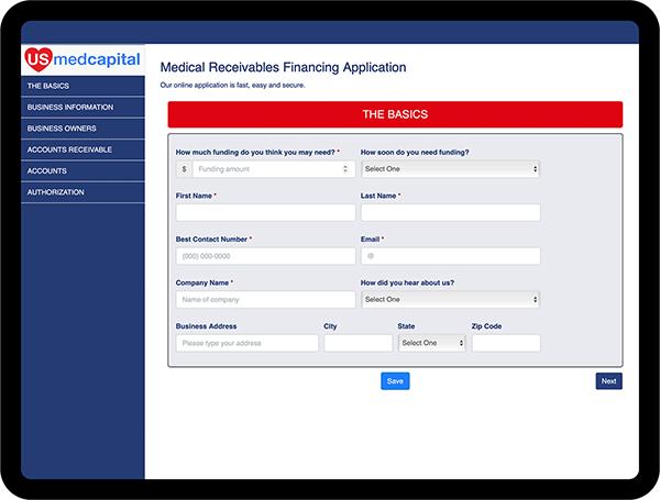 US Med Capital Online Application
