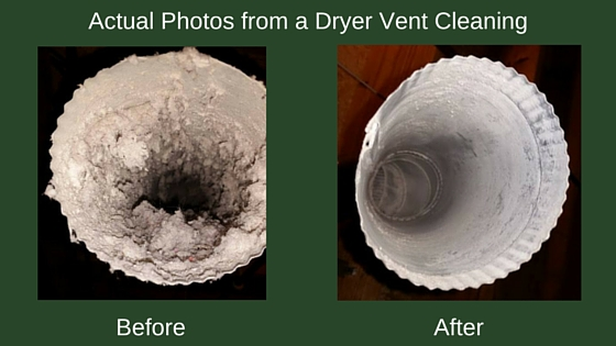 Actual Photos from a Dryer Vent Cleaning