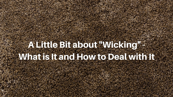 "A Little Bit about ""Wicking"""