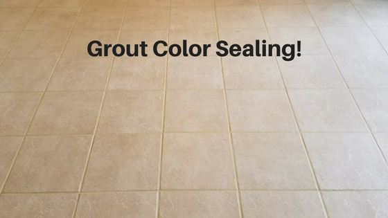 Grout Color Sealing!