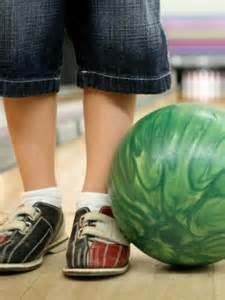 bowling ball on floor