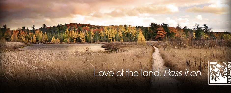 Landscape with text