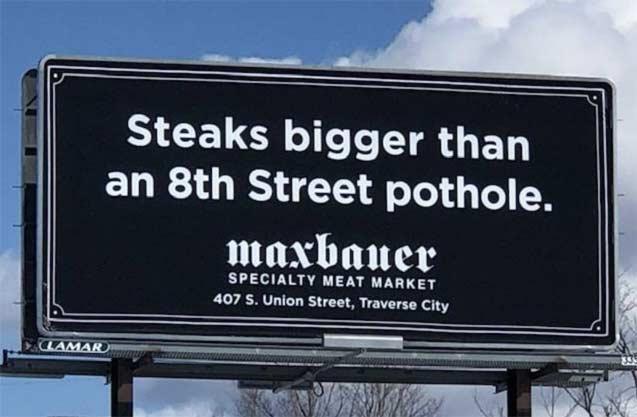 Billboard text