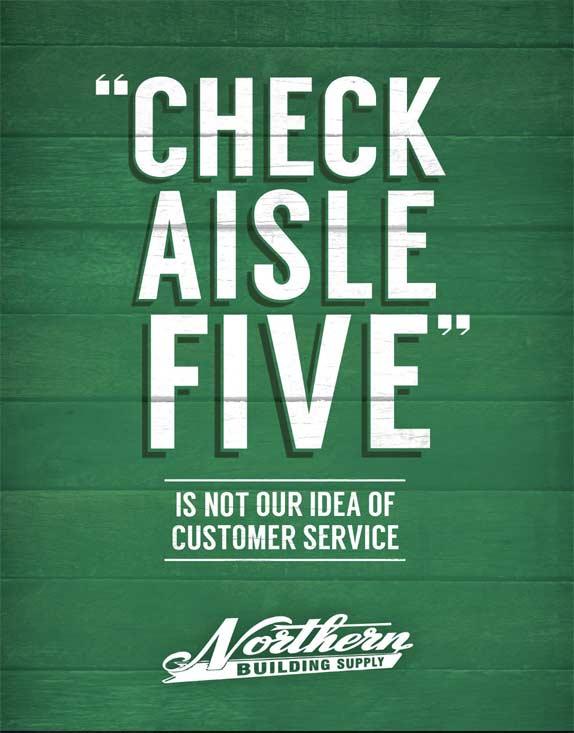 Check Aisle Five billboard
