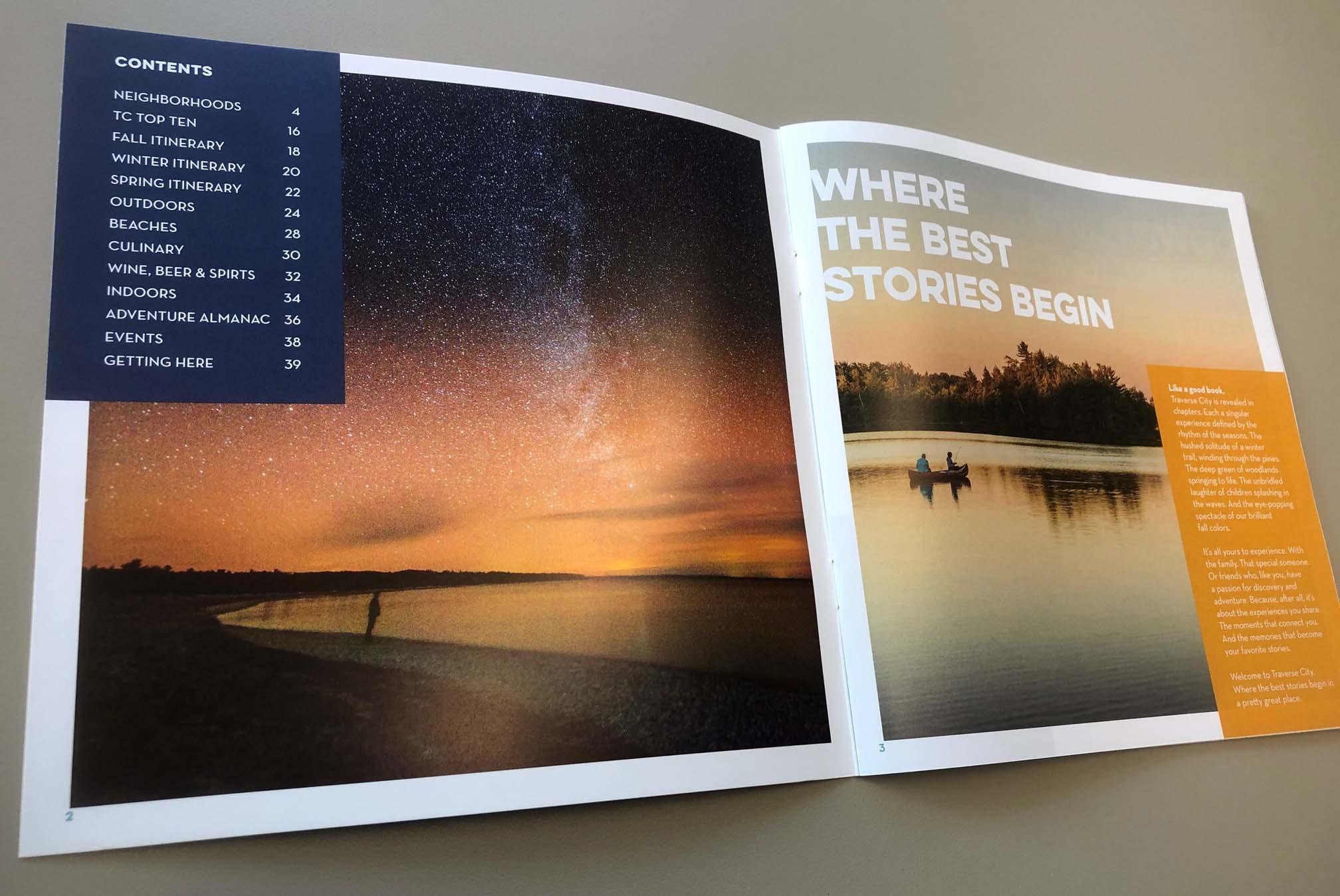 Traverse City Tourism booklet image