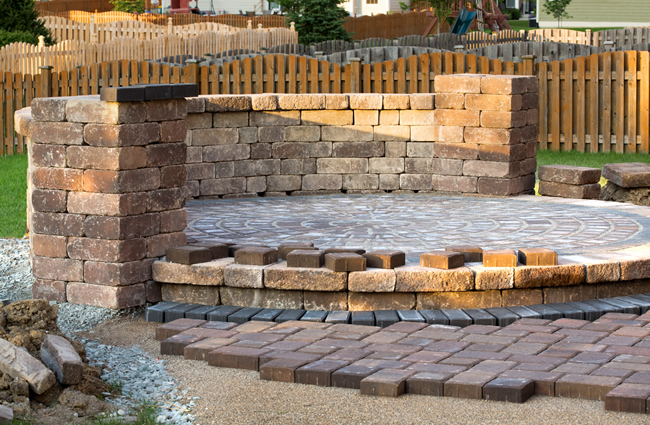 Landscaping Pavers example