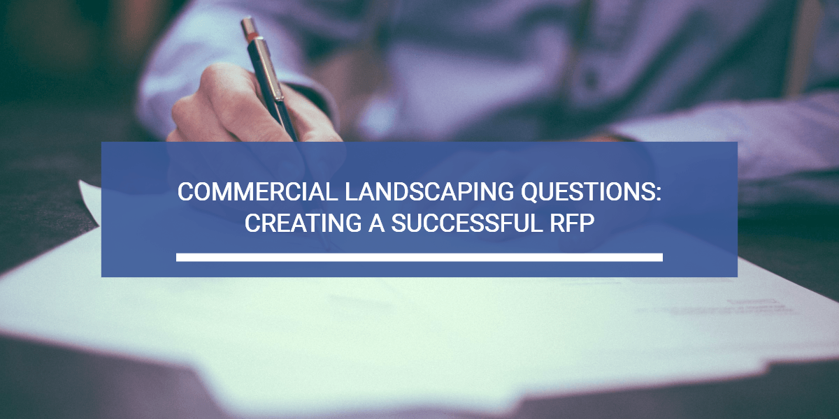 Logo for article on how to create a commercial landscaping RFP