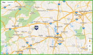 Map Showing Location of Grand View Campground and RV Park and other nearby attractions