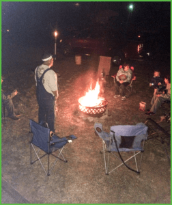 Chilling Out Around the Campfire at Grand View Campground