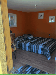 Tiny Cabin Bed and Seating