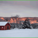 Snow Covered Grand View Campground and RV Park