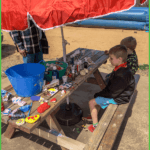 Enjoying Arts and Crafts at Grand View Campground
