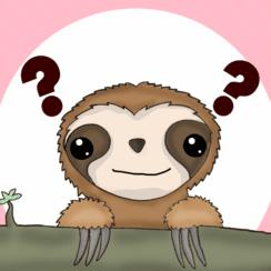 kawaii sloth figure animation
