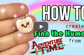 finn the human adventure time finn mertens kawaii polymer clay figure