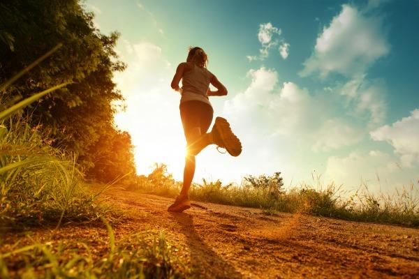 Running, sunshine, exercise