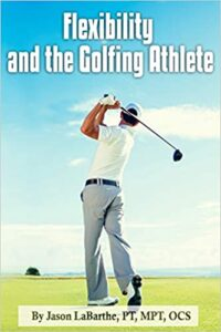 Golf book, cover, golfer, flexibility