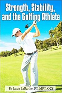 Golf book, cover, golfer, strength, stability