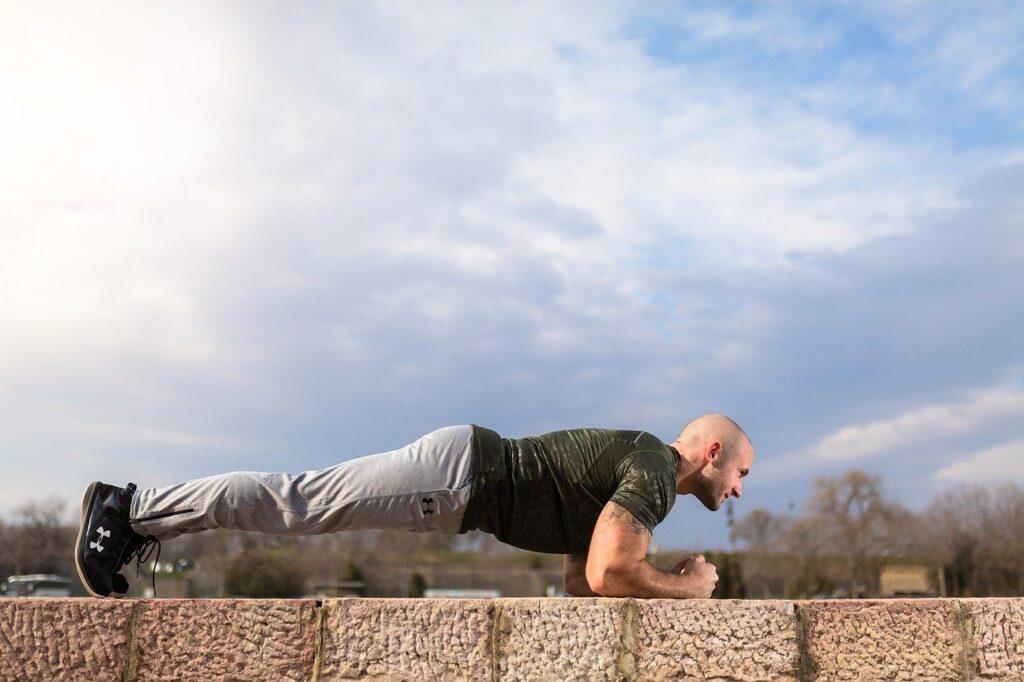 plank, abs, sport, man, strength